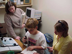 Child and Employees at the clinic